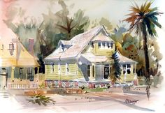 Plein Aire Painting | house painting plein air watercolors framed $ 650 00 this painting ...