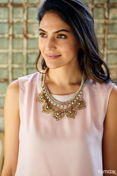 Found at T.J.Maxx: The statement necklace your spring wardrobe is craving. Pair it with anything from worn-in tees to cocktail dresses for an instant outfit upgrade.