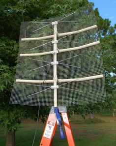 On my last post I mentioned that one of the things needed to receive broadcast TV is an antenna. While you can buy an antenna, you can also build one that can be optimized for the signals you want… Hd Antenna Diy, Wifi Antenna, Antenna Gain, Diy Electronics, Electronics Projects, Long Range Tv Antenna, Radios, Watch Tv For Free, Tv Hacks