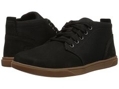 Timberland Kids Groveton Chukka Leather and Fabric (Big Kid) Black - Zappos.com Free Shipping BOTH Ways