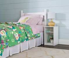 Give your kid a nightstand that has multiple storage areas -- for bedtime books and other necessities. #StorageFurniture #HomeOrganization #KidsRoom Kids Storage, Table Storage, Small End Tables, Fabric Drawers, Bedside Storage, Create Space, Storage Compartments, Kid Spaces, Room Organization