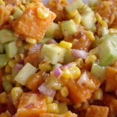 Carribean sweet potato salad
