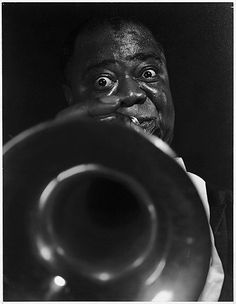Satchmo    Eliot Elisofon  (American, New York 1911–1973 New York) Date: 1950s Medium: Chromogenic print Classification: Photographs Credit Line: Gift of Photography in the Fine Arts, 1959  photo of Louis Armstrong