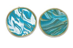 Turquoise Marble Clay Coasters