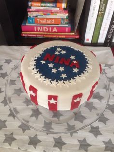 Amerikaanse vlag taart