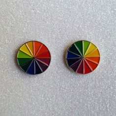 FULL Color Wheel Cloisonne Soft Enamel Lapel Hat by BanginArt