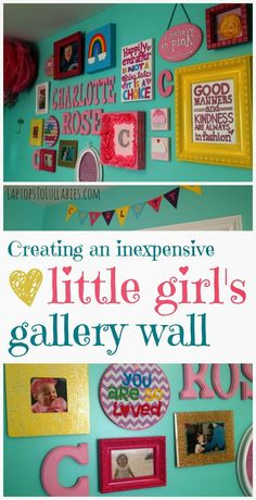Ten easy (and inexpensive) projects to brighten a little girl's bedroom // By Heather Laura Clarke #gallerywalls #gallerywall #nursery #toddlerroom
