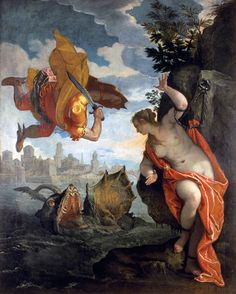 Perseus Rescuing Andromeda by Paolo Veronese c. 1576-1578, oil on canvas Musee des Beaux-Arts, Rennes
