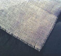 Toalha de Juta 1x1m Cobre Mancha Burlap Table Cloth