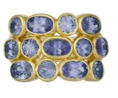 18K Sapphire Triple Eternity Ring by Temple St. Clair