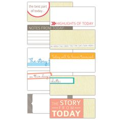 """""""love these tags for my project life journal. Everyday Tiny Tags - set of 10 :: Everyday Tags :: By Theme :: Elle's Studio Tags :: Elle's Studio"""""""