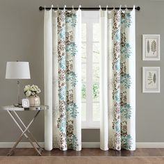 Madison Park Adria Cotton 84-inch Curtain Panel - Overstock™ Shopping - Great Deals on Madison Park Curtains