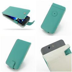 PDair Leather Case for Asus the new PadFone Infinity 2 A86 - Flip Type (Aqua)