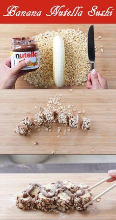Recipe Video: Banana Nutella Sushi