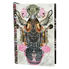 This striking Virgin Lay Flat notebook is part of the Christian Lacroix Papier collection and is adorned with illustrations by the haute couture designer. The front-and back-cover feature multicol...