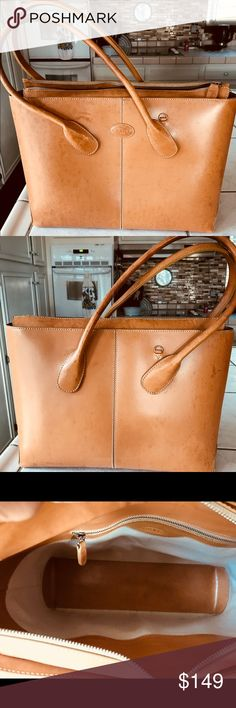 Tod's (camel) Handbag Authentic pre-owned leather handbag.  Bought here on Posh but did not use as much as I thought I would. Bags Satchels