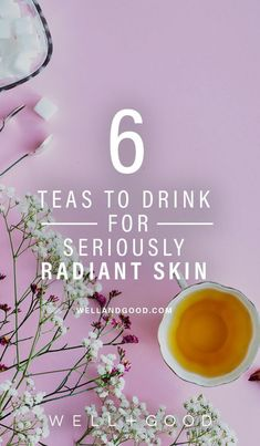 Natural Remedies For Skin Teas to Drink for Good Skin - Which teas to brew for a radiant complexion, according to Big T NYC's founder Theresa Krier. Beauty Care, Beauty Skin, Beauty Hacks, Diy Beauty, Homemade Beauty, Face Beauty, Homemade Facials, Beauty Guide, Clean Beauty
