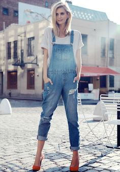 inspiration: denim dungaree
