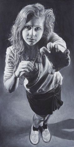 """Rawr"" by Allie Martin in charcoal AP Drawing portfolio"