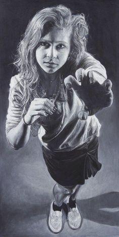 """Rawr"" by Allie Martin in charcoal AP Drawing portfolio"