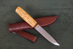 Custom Handmade Mora Puukko Knife with Sheath. Morakniv