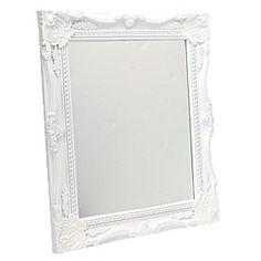 Rosario Mirror 25cm x 30cm - White