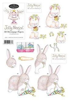 Bunny & Hamster 3D Jolly Nation Decoupage - £0.45 - A great range of Christmas Jolly Nation Decoupage from Kards & Krafts