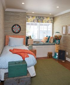 Contemporary Kids Bedroom with Reclaimed Distressed Wood Palisade Blue