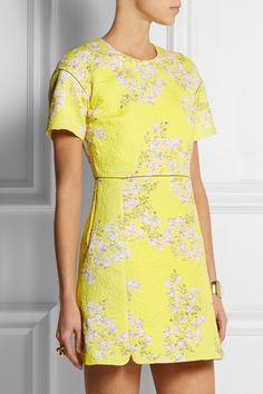 GIAMBATTISTA VALLI Floral-print matelassé cotton mini dress
