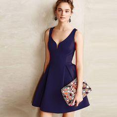 Purple Sexy Mini Vintage Dress