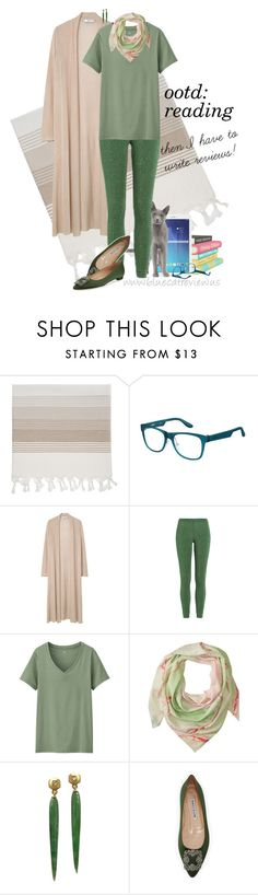 """""""ootd 6/28/2016"""" by bluecatreview13 ❤ liked on Polyvore featuring IGH, Samsung, Carrera, MANGO, Missoni, Uniqlo, Marc by Marc Jacobs, Manolo Blahnik, ootd and Leggings"""
