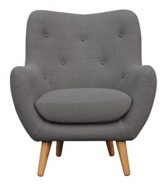 Maybe a little smaller. or without arms. with color BREYTON fauteuil en tissu - Habitat Chaise Chair, Armchair, Accent Chairs For Living Room, Living Room Decor, Chair Design, Furniture Design, Furniture Upholstery, Comfy Sofa, Home Room Design