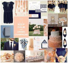 navy + peach   .....lauren stewart designs + events.....