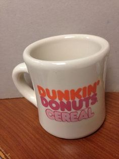 Dunkin Donuts Cup Dunkin Donuts Cereal Vintage
