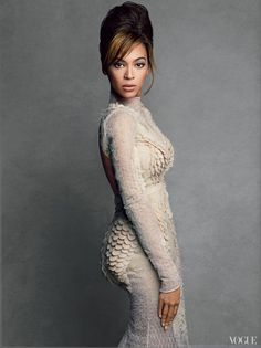 The pop diva and inspiration to so many young women looks divine in Patrick Demarchelier's rich, studio shots for Vogue US March issue. Camille Nickerson styles Beyonce in a series of goddess-worthy outfits that enhance every curve.