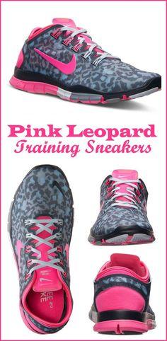 Nike Pink Leopard Free Sneakers #newyearsresolution #healthy