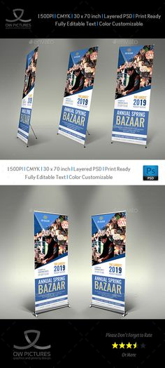 Bazaar Signage #Roll Up Banner Template - #Signage Print Templates