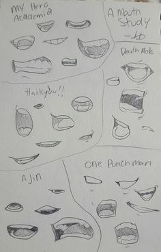 A mouth study from some manga laying around my room cuz I can't draw mouths for shit Anime Drawings Sketches, Pencil Art Drawings, Indie Drawings, Anime Sketch, Drawing Techniques, Drawing Tips, Drawing Face Expressions, Body Drawing Tutorial, Art Inspiration Drawing