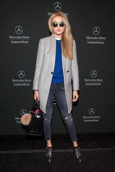 Gigi Hadid at Lincoln Center for New York Fashion Week. See all of the model's best looks.