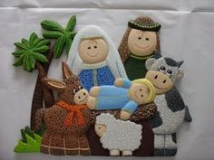 this describes me perfectly lol Nativity Crafts, Christmas Nativity, Christmas Art, Christmas Stockings, Christmas Ornaments, Tole Decorative Paintings, Christian Christmas, Sewing Toys, Stuffed Toys Patterns