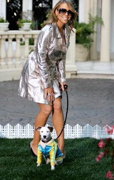 Mariah Carey looking glamorous with Jack Jr. #celebrities #dogs