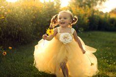 flower girl tutu dress making sissy one! Tulle Flower Girl, Flower Girl Dresses, Flower Girls, Diy Flower, Yellow Wedding, Dream Wedding, Private Wedding, Yellow Tutu, No Sew Tutu