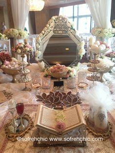 Persian wedding sofreh aghd by Sofreh Chic Outdoor Wedding Reception, Wedding Table, Fall Wedding, Our Wedding, Dream Wedding, Wedding Ideas, Iranian Wedding, Persian Wedding, Wedding Gift Wrapping