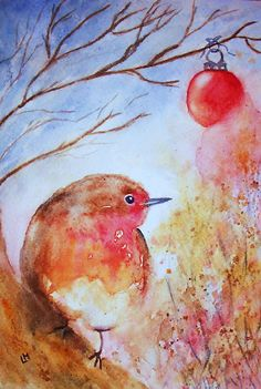 Winter Robin by Laura Moore