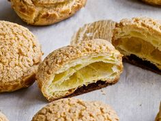 Ginger-Lemongrass Choux Pastry | Serious Eats : Recipes Wonder if this recipe is similar to how Chinese pineapple buns are made....