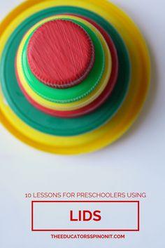 10 Preschool Activities for Mathematics with Lids