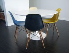 Just finished my restore on some Eames shell chairs. #modern #chair #restore