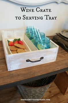 wine crate to serving tray somuchbetterwithage.com