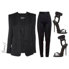 Balmain blazer, Jason Wu pants and @giuseppezanottiworld sandals