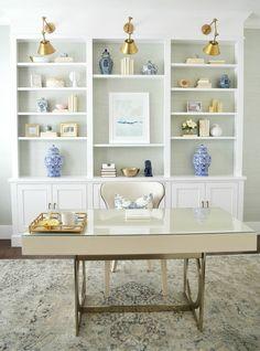 Monochromatic layered office space. Sita Montgomery Interiors.